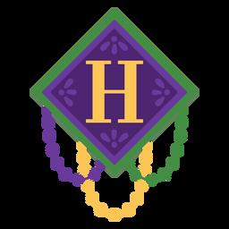 Guirnalda de letra h