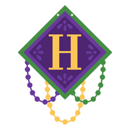 Letter h garland