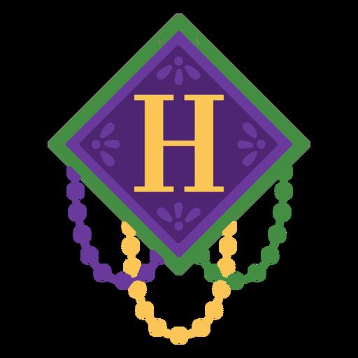 Guirnalda de letra h Transparent PNG