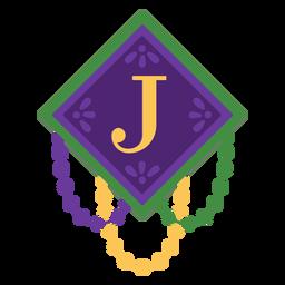 Guirnalda de letra j