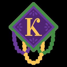 Guirnalda de letra k