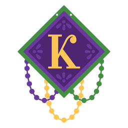 Letter k garland