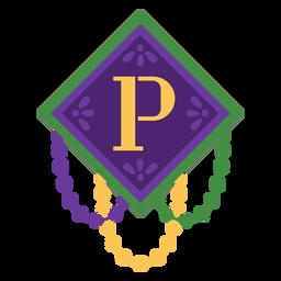 Letter p garland