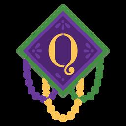 Letter q garland