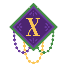 Letter x garland