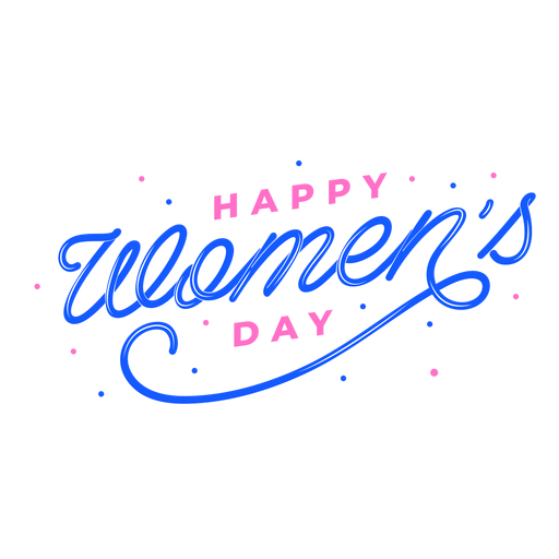 Lettering happy women's day Transparent PNG