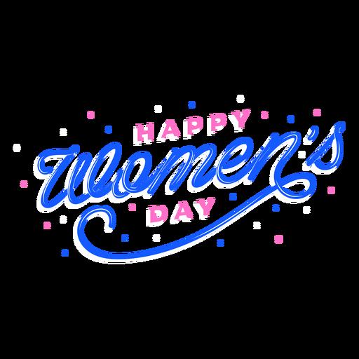 Lettering happy women's day