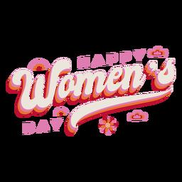Schriftzug glücklicher Frauentag