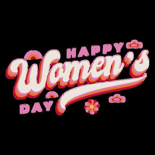 Letras feliz día de la mujer Transparent PNG
