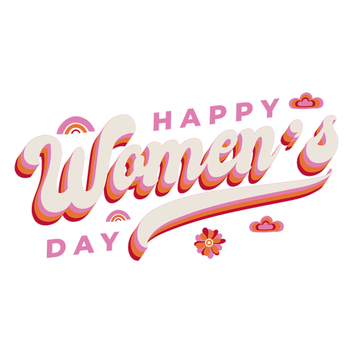 Lettering happy womens day Transparent PNG
