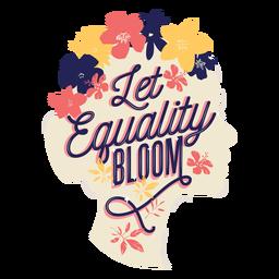 Letras deja florecer la igualdad