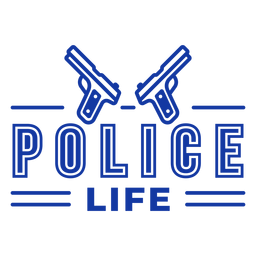 Lettering police life officer