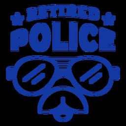 Letras de policía jubilada