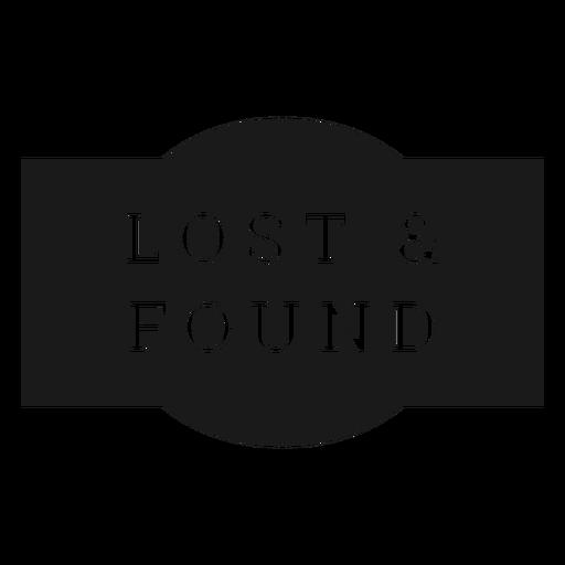 Etiqueta de objetos perdidos