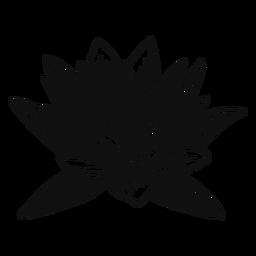 Flor de lótus preto e branco