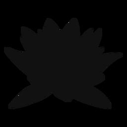 Silhueta de flor de lótus