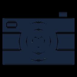 Icono de cámara azul de amor