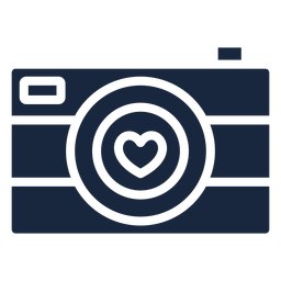 Love camera blue icon