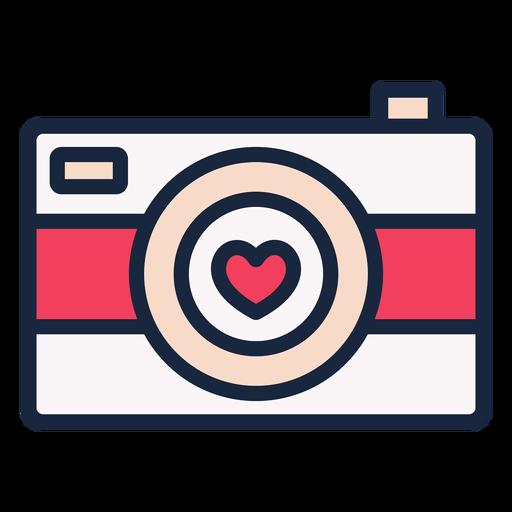 Love camera stroke icon