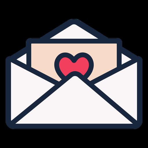 Icono de trazo de carta de amor
