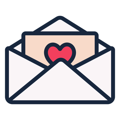 Love letter stroke icon