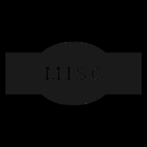 Etiqueta miscelánea