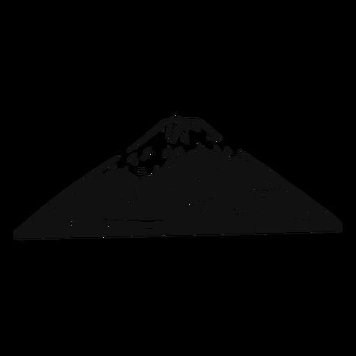 Monte fuji en blanco y negro