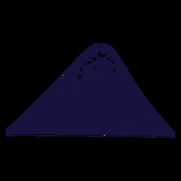 Monte fuji azul
