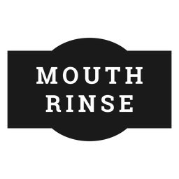 Mouth rinse label
