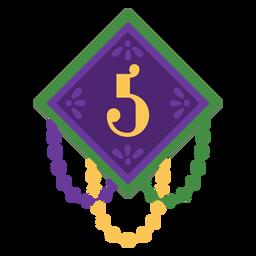 Number 5 garland