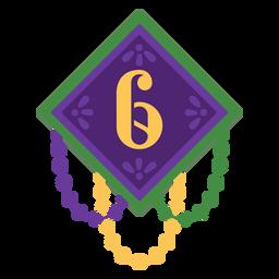 Number 6 garland