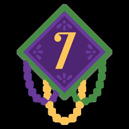 Number 7 garland