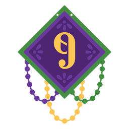Number 9 garland