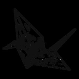 Origami en blanco y negro