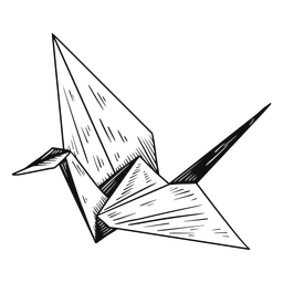 Origami preto e branco