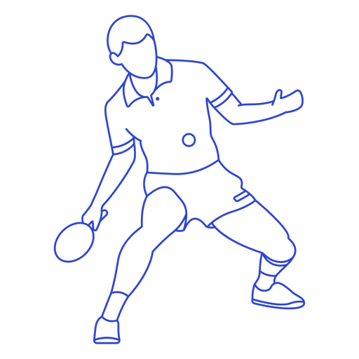 Ping pong player stroke Transparent PNG
