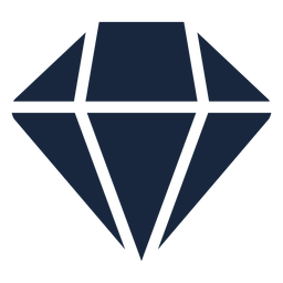 Pink diamond blue icon