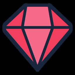 Icono de trazo de diamante rosa