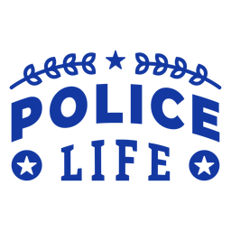 Police life officer lettering