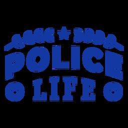 Police life officer lettering