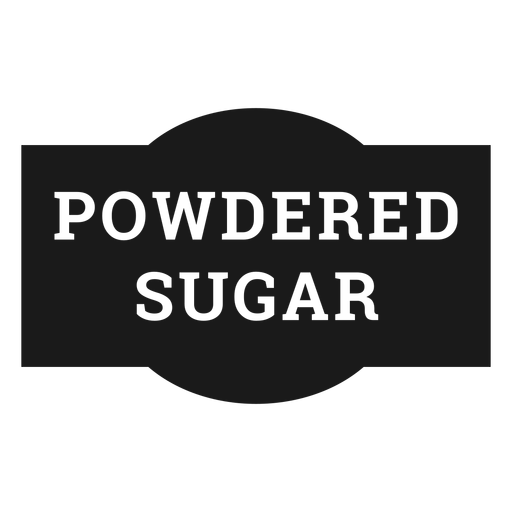 Powdered sugar label Transparent PNG