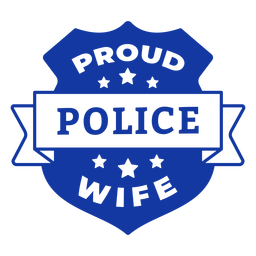 Proud police wife officer lettering
