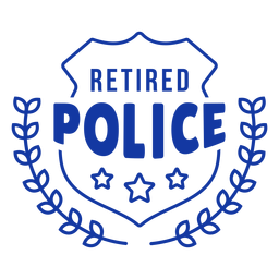 Retired police lettering