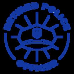 Retired police officer lettering