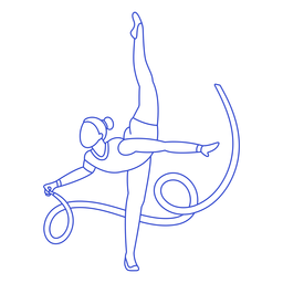Rhythmic gymnast stroke