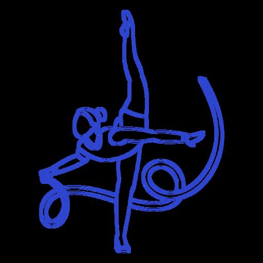 Golpe de gimnasta rítmica