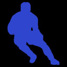 Jugador de rugby azul