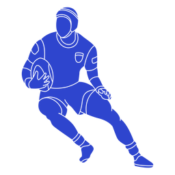 Rugby player blue