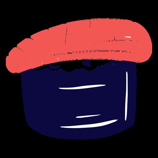 Salmon sushi duotone