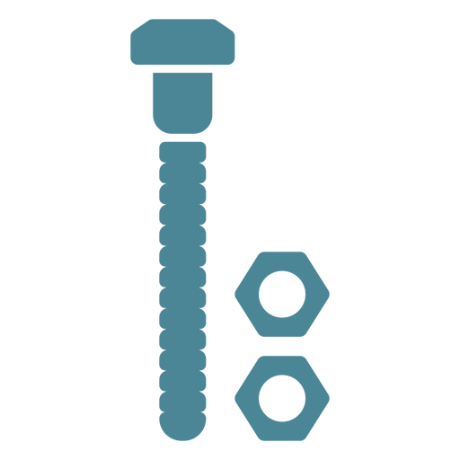 Screw and nuts blue Transparent PNG